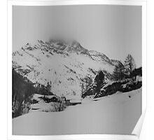 mountain snow scenery Poster
