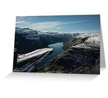 Trolltunga Greeting Card