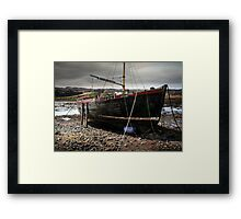 Applecross Boat Framed Print