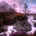 Buachaille Etive Mòr and the waterfall by Paul  Gibb