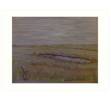Norfolk Marshes, Blakeney Art Print