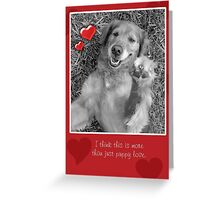 Puppy Love Valentine's Day Greeting Card Greeting Card