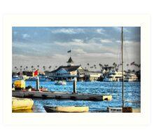 Balboa Pavilion Newport Beach, California Art Print