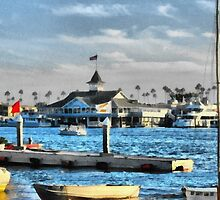 Balboa Pavilion Newport Beach, California by Joni  Rae