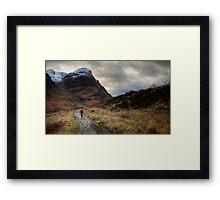 Walker in Glen Coe Framed Print