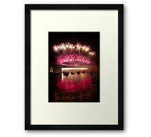 NYE 2013 FIREWORKS | SYDNEY HARBOUR BRIDGE Framed Print