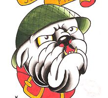 Semper Fi Bulldog by MikeFrench