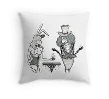 The March Hare and the Mad Hatter Throw Pillow