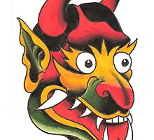 Old School Devil Head by MikeFrench