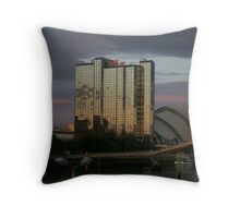 Sunset on the Clyde Throw Pillow