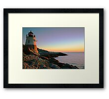 Evening at Castle Hill Lighthouse Framed Print