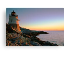 Evening at Castle Hill Lighthouse Canvas Print