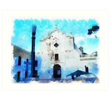 Old San Juan Church Art Print