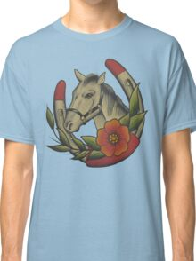 Traditional Horse and Horse Shoe Classic T-Shirt