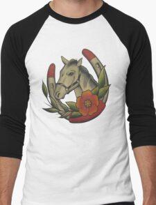 Traditional Horse and Horse Shoe Men's Baseball ¾ T-Shirt