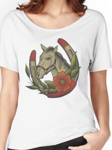 Traditional Horse and Horse Shoe Women's Relaxed Fit T-Shirt
