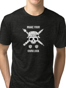 """Tabletop Tactics """"Make Your Own Luck"""" Tri-blend T-Shirt"""