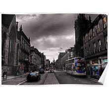 Edinburgh Old Town Street scene Poster