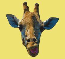 """""""I Don't Care"""" Giraffe Card Kids Tee"""