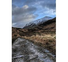 Glen Coe Track Photographic Print
