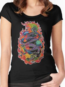 Fire Dragon Women's Fitted Scoop T-Shirt