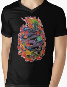 Fire Dragon Mens V-Neck T-Shirt