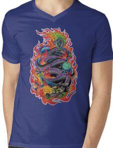 Fire Dragon Mens V-Neck T-Shirt