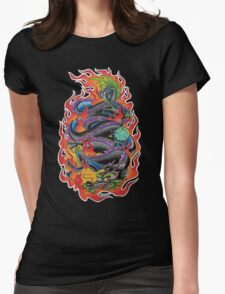 Fire Dragon Womens Fitted T-Shirt