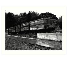 Coal Wagons Art Print