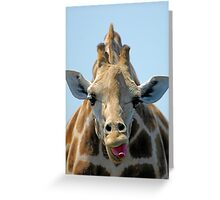 """I Don't Care"" Giraffe Card Greeting Card"