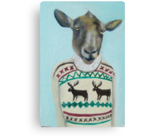 sheep sweater Canvas Print