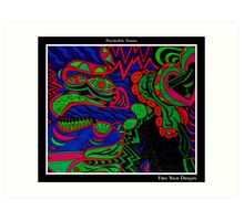 Free Your Dragon Black Ligth Art Print
