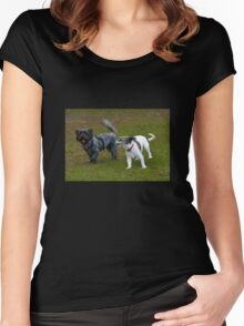 Who Let the Dogs Out? Women's Fitted Scoop T-Shirt