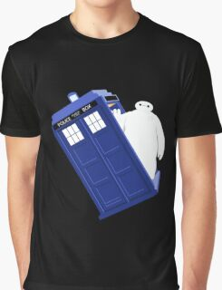 Baymax Inside Flying Tardis Graphic T-Shirt