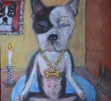My Boston Terrier Sanny by Ella Meky