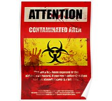 Attention Biohazard - Smeared Poster