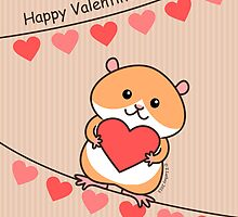 Cute Hamster Valentine by zoel