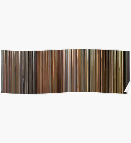Moviebarcode: The Complete Wes Anderson (1994-2012) Poster