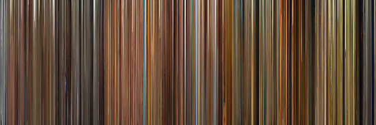 Moviebarcode: The Complete Wes Anderson (1994-2012) by moviebarcode