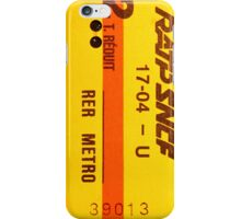 "French Subway Ticket 70's (Ticket metro français 70""s) iPhone Case/Skin"