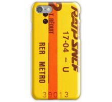 "French Subway Ticket 70's (Ticket metro français 70""s) iPhone Case/Skin"