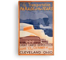 Vintage poster - Great Lakes Exposition Metal Print