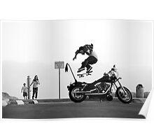 Motorcycle Kickflip Poster