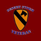 1st Cav Desert Storm Veteran -  iPad Case by Buckwhite