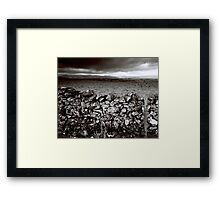 Dry stone and barbed wire Framed Print