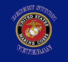 U.S. Marines - Desert Storm Veteran  - iPad Case by Buckwhite