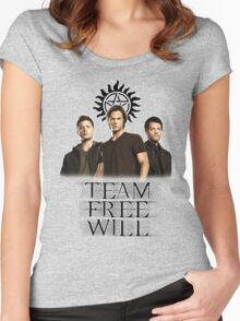 Supernatural: Team Free Will Women's Fitted Scoop T-Shirt