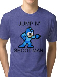 Jump N Shoot Man Tri-blend T-Shirt