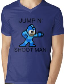 Jump N Shoot Man Mens V-Neck T-Shirt
