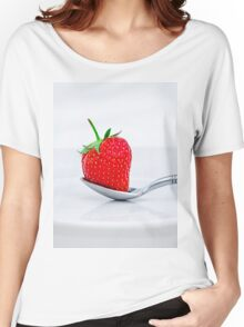 Strawberry on a plate Women's Relaxed Fit T-Shirt